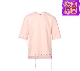 气孔织带装饰短袖T恤