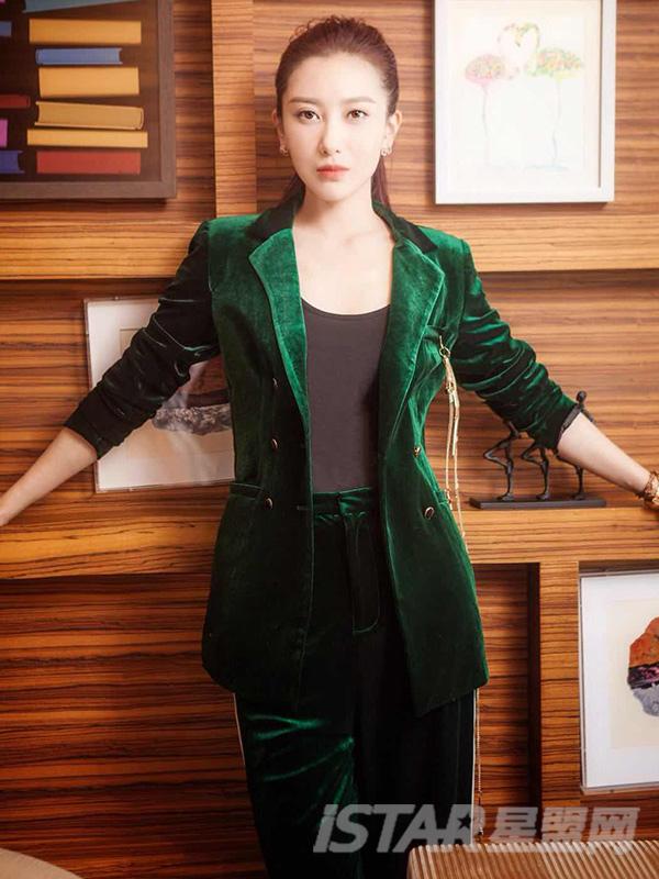 同款丝绒西装时尚套装