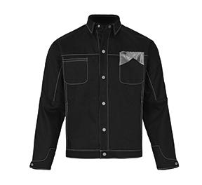 黑色色块拼接牛仔外套