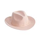 金属环装饰舒适优雅宽沿帽