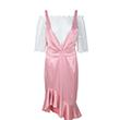 经典粉白套装鱼尾裙
