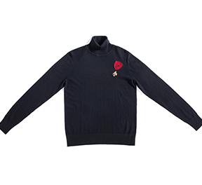 时尚高领休闲保暖套头针织衫