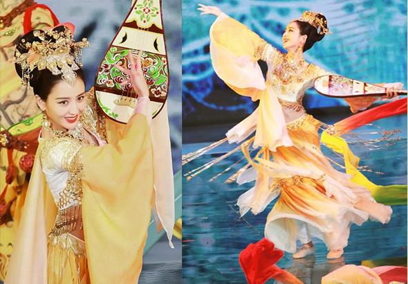 《第十七届电影华表奖》佟丽娅领舞《远航》,画面如敦煌的飞天