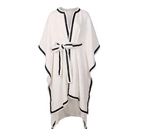 复古名媛斗篷式设计大衣