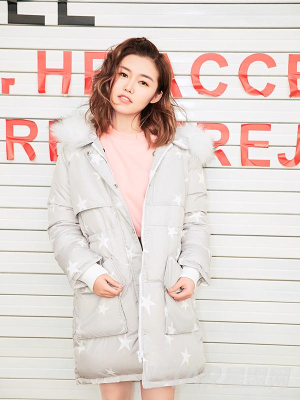 甜美星星保暖羽绒外套