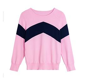 粉色毛针织衫